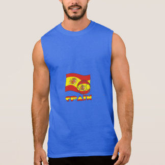Spanish Soccer Ball and Flag Sleeveless Shirt