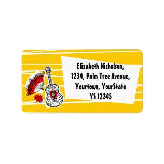 Spanish Souvenirs address label
