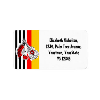Spanish Souvenirs Classic Stripe address label