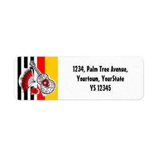 Spanish Souvenirs Classic Stripe return address
