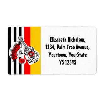 Spanish Souvenirs Classic Stripe shipping label