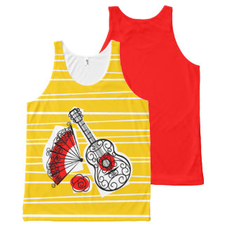 Spanish Souvenirs Group red back All-Over-Print Tank Top