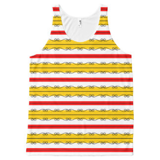 Spanish Stripes all over tank top