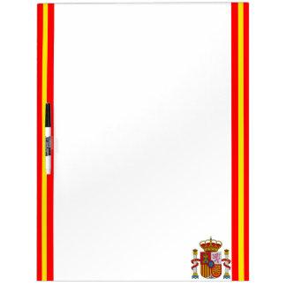 Spanish stripes flag dry erase board