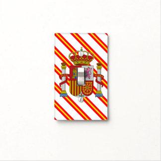 Spanish stripes flag light switch cover