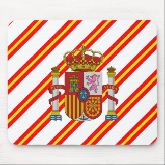 Spanish stripes flag mouse pad