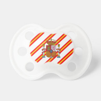 Spanish stripes flag pacifier