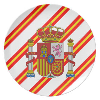 Spanish stripes flag plate