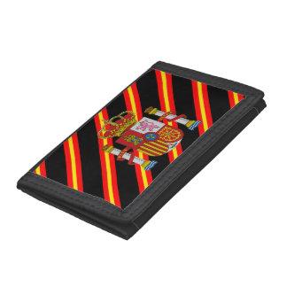 Spanish stripes flag tri-fold wallets