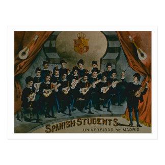 'Spanish Students, University of Madrid' (colour l Postcard