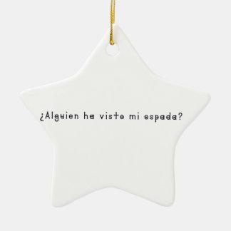 Spanish-Sword Ceramic Ornament
