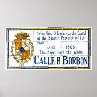 Spanish Tile Bourbon St. Poster