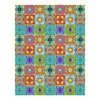 spanish tiles 8.5x11 scrapbook paper sheets