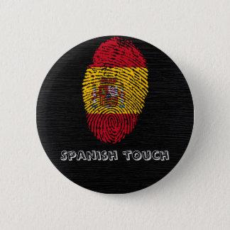 Spanish touch fingerprint flag 2 inch round button