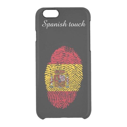 Spanish touch fingerprint flag clear iPhone 6/6S case