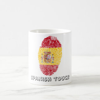 Spanish touch fingerprint flag coffee mug