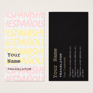 Spanish Translator or Interpreter Business Cards