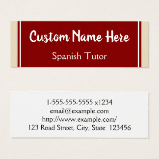 Spanish Tutor Business Card