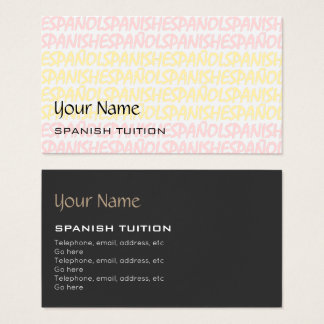 Spanish Tutor Business Cards
