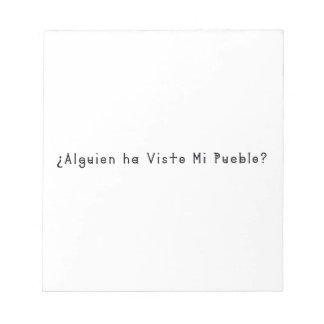Spanish-Village Notepad