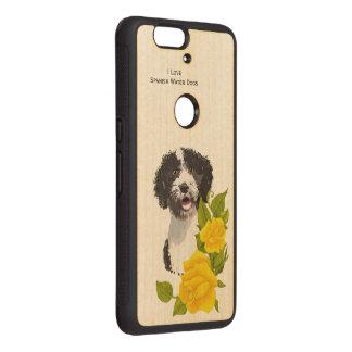 Spanish Water Dog and Yellow Roses Wood Nexus 6P Case