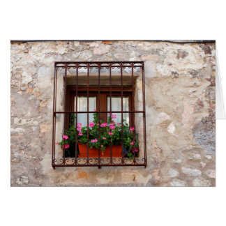 Spanish Window Card