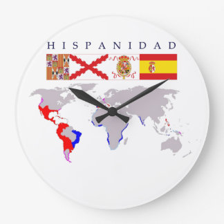 SPANISHNESS origin with map. Clock