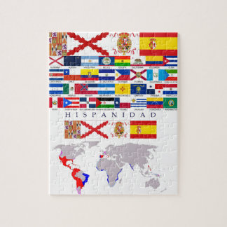 SPANISHNESS origin with map. Puzzle