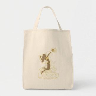 Spank Bikini Girl Gold Tote Bags