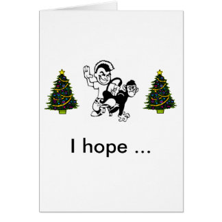 Spank-The-Monkey, christmas tree, christmas tre... Card