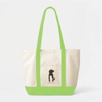 SPARED tote, green Impulse Tote Bag