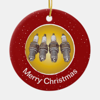 Spark plugs of the engine ceramic ornament