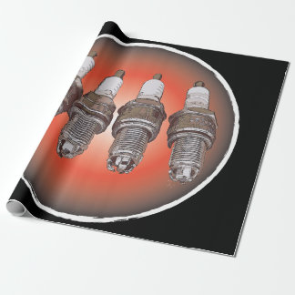 Spark plugs of the engine wrapping paper