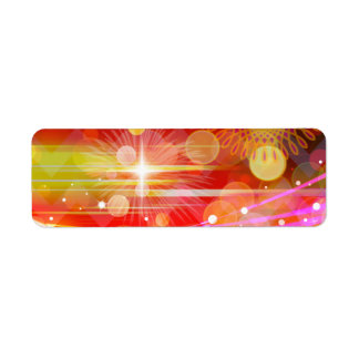 Sparkle and Shine Chevron Light Rays Abstract Return Address Label