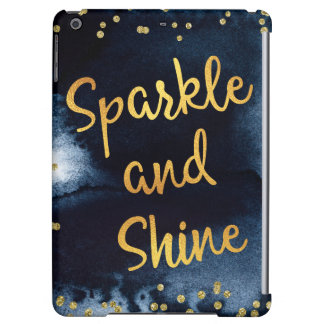 Sparkle And Shine Gold & Watercolor Typography Art iPad Air Case