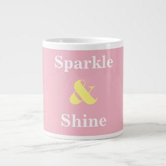 Sparkle and Shine pink and yellow mug