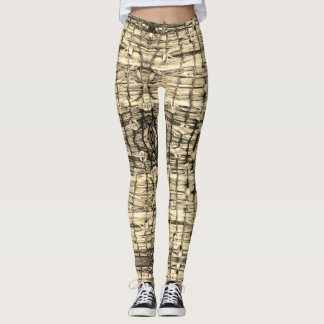Sparkle Basket Leggings Neutral