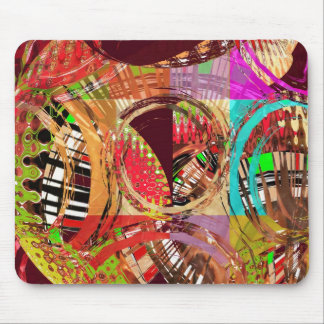 Sparkle Blue Stained Glass n Happy Abstract Art Mousepads