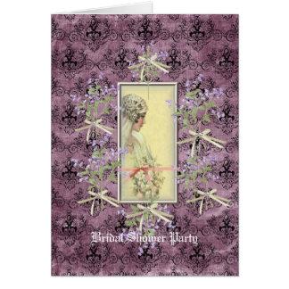 Sparkle & Bows Bridel Shower Invitation Note Card