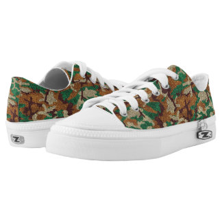 Sparkle Camouflage Low-Top Sneakers