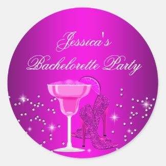 Sparkle Cocktail & Heels Bachelorette Sticker Stickers