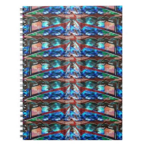 Sparkle Complex Jewels  Template ORIGINAL FUN ART Spiral Note Books