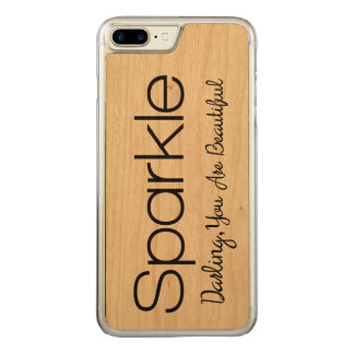 Sparkle Darling You're Beautiful Wood Phone Case