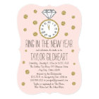 Sparkle Diamond Ring New Year's Eve Bridal Shower Card