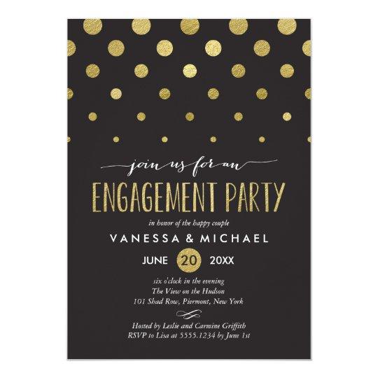 Sparkle Dots Engagement Party Invitation