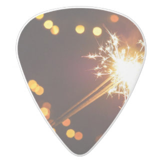 Sparkle Fireworks Guitar Pick White Delrin Guitar Pick
