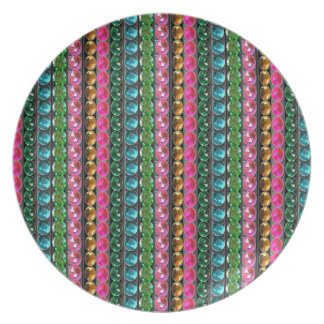 SPARKLE Gems Jewels Graphic decorative pattern gif Plate
