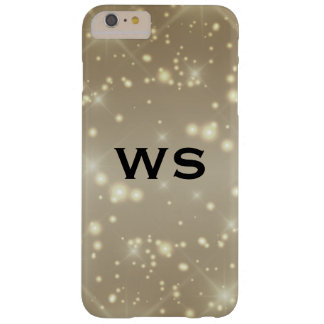 sparkle glamour monogram barely there iPhone 6 plus case