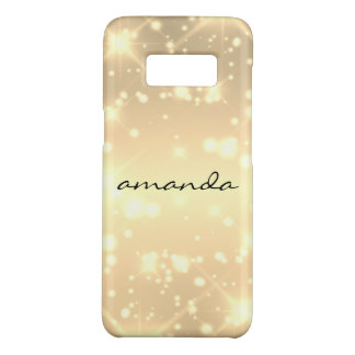 sparkle glamour monogram sprinkles Case-Mate samsung galaxy s8 case
