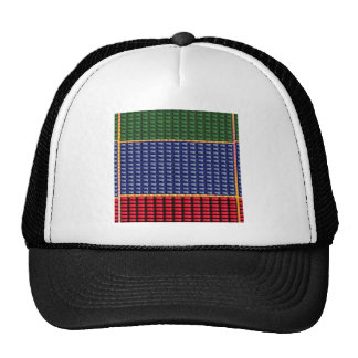 Sparkle Glitter Digital Blue Red Green Button GIFT Mesh Hats